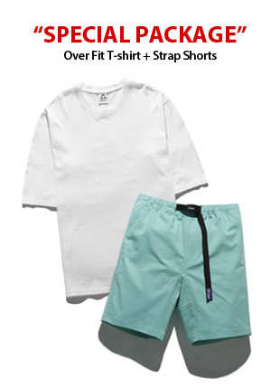 [PACKAGE] Overfit Short Sleeves T-shirt (5color) + Strap Shorts (8color) Package