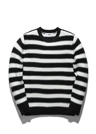 Nipseu Stripe Raund neck Knit NNT016C2601