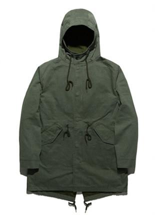 FROMATOB Premium N-3B Pigment Long Field Jacket - BYJ017C002KK