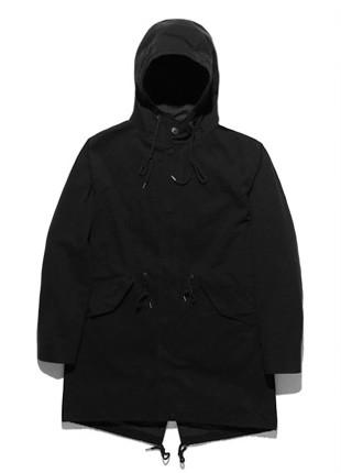 FROMATOB Premium N-3B Pigment Long Field Jacket - BYJ017C002BK