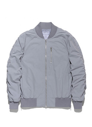 FROMATOB Premium Wrinkle Front Zipper MA-1 Jacket - TOB17MA101MT