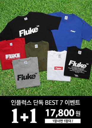 [1 + 1] Fluke Short Sleeves T-shirt BEST 7