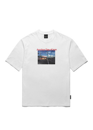 Another Day Of Sun Skater Short Sleeves T-shirt TOB17ST007WH