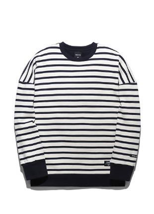 Forbee Tobby overfit Stripe sweatshirts TOB17MT307NV