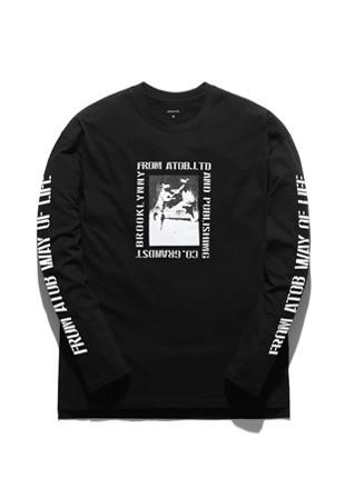 Forebee Tobee Kangaroo Long Sleeve T-shirt TOB17LT500BK