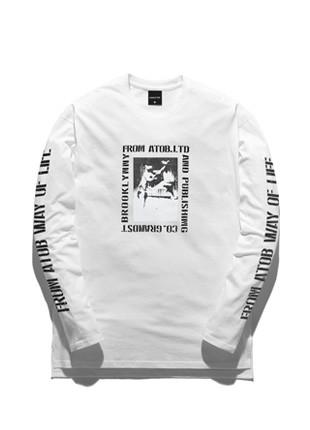 Forebing Tobee Kangaroo Long Sleeve T-shirt TOB17LT500WH