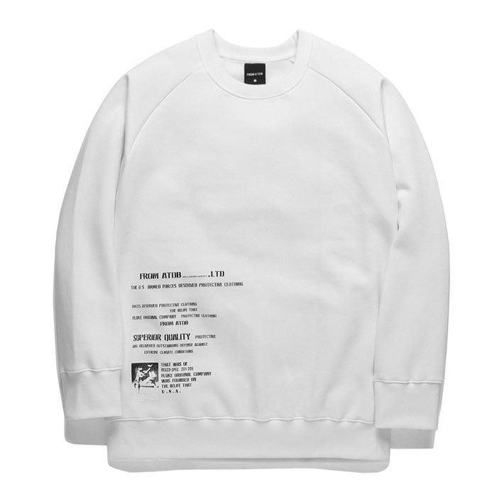 Forbee Tobby Side View sweatshirts TOB17MT347WH