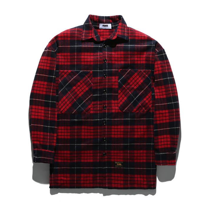 Fluke Check cashmere oversize Shirt FLS017Z303