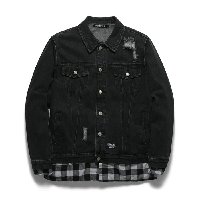 Checkmode Damage Denim Jacket TOB18ZDJ501