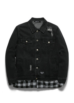 Checkmode Damage Denim Jacket TOB18ZDJ501