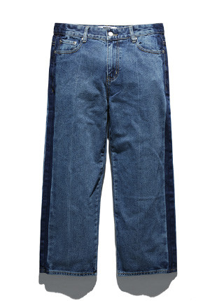 Fluke wide line denim jeans FDP018C111