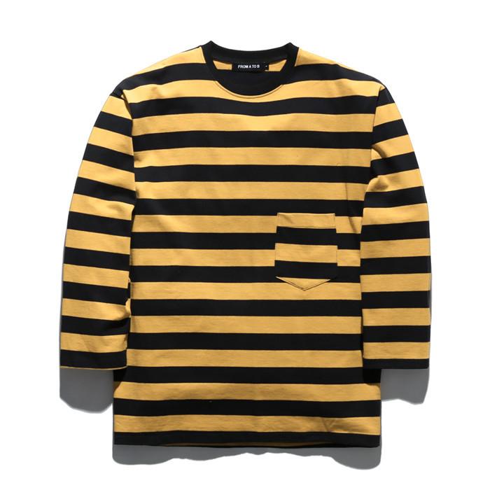 Forex T-Shirt Stripe Long Sleeve T-shirt TOB18ZLT500