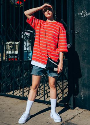 Fluke International layered overfit Short Sleeves T-shirt FOT018C551